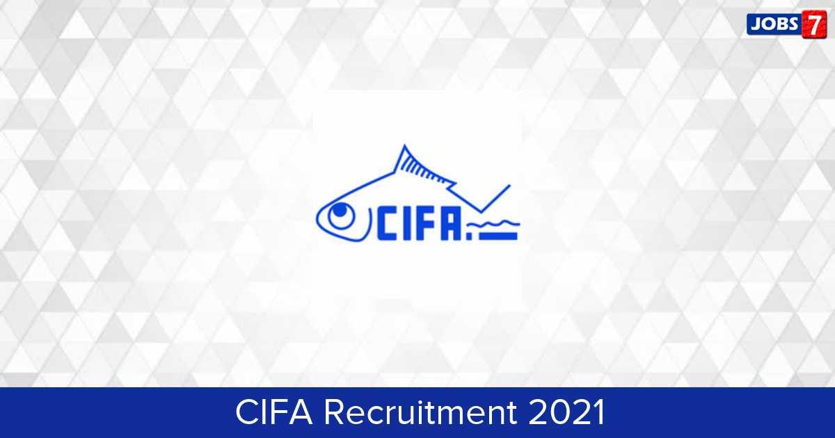 CIFA Recruitment 2021:  Jobs in CIFA   Apply @ cifa.nic.in