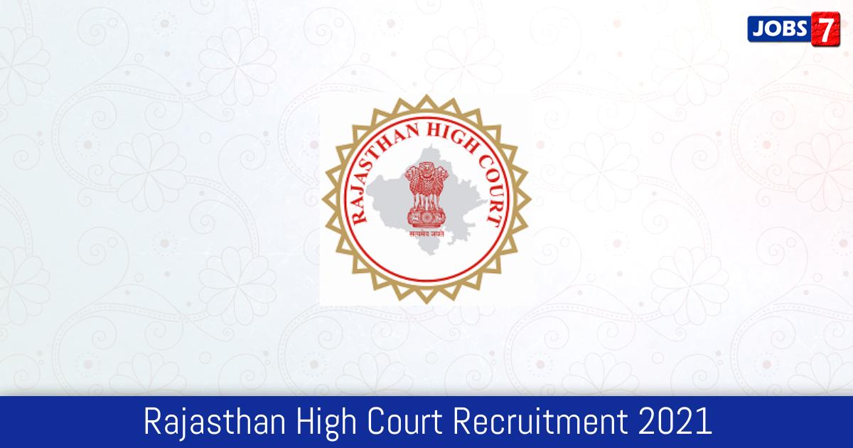 Rajasthan High Court Recruitment 2021:  Jobs in Rajasthan High Court | Apply @ hcraj.nic.in