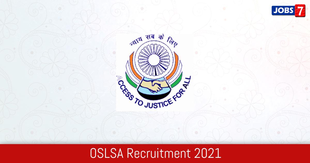 OSLSA Recruitment 2021:  Jobs in OSLSA   Apply @ oslsa.nic.in