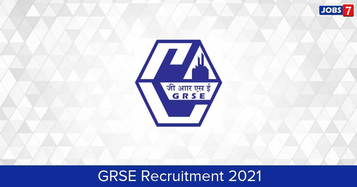 GRSE Recruitment 2021:  Jobs in GRSE | Apply @ grse.in