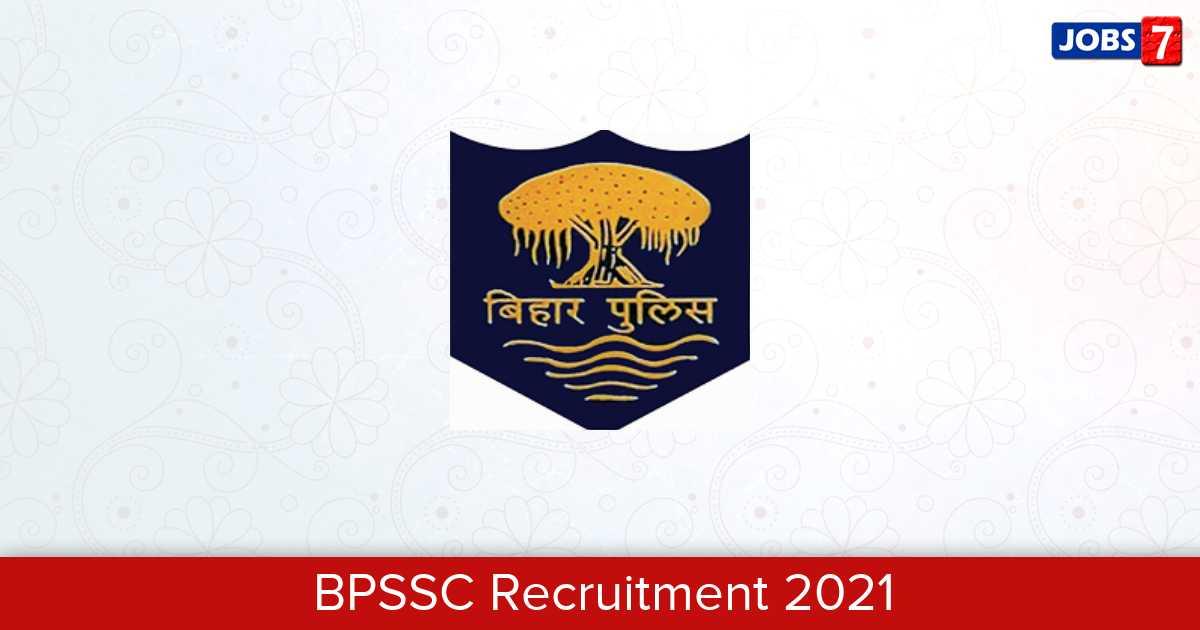 BPSSC Recruitment 2021:  Jobs in BPSSC   Apply @ www.bpssc.bih.nic.in