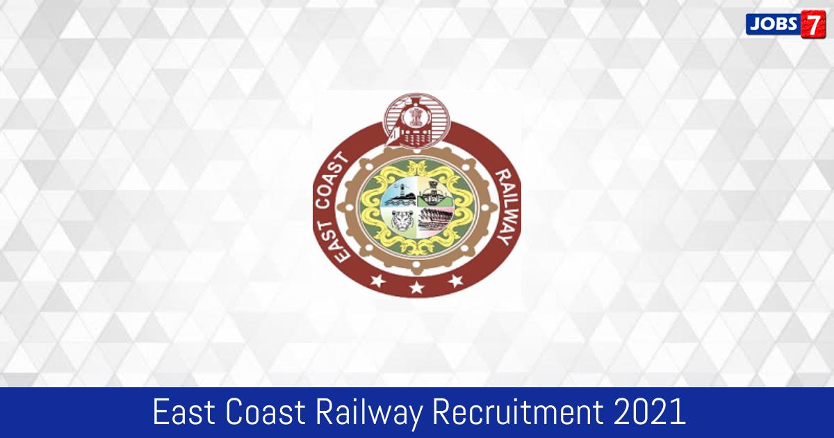 East Coast Railway Recruitment 2021:  Jobs in East Coast Railway | Apply @ eastcoastrail.indianrailways.gov.in