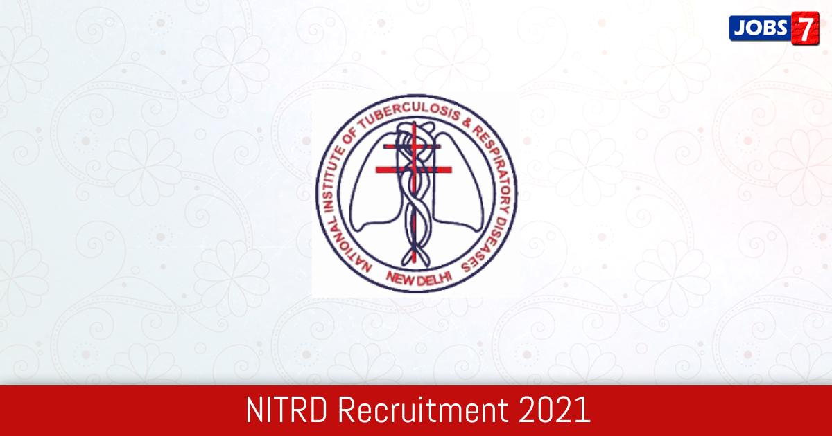 NITRD Recruitment 2021:  Jobs in NITRD | Apply @ www.nitrd.nic.in