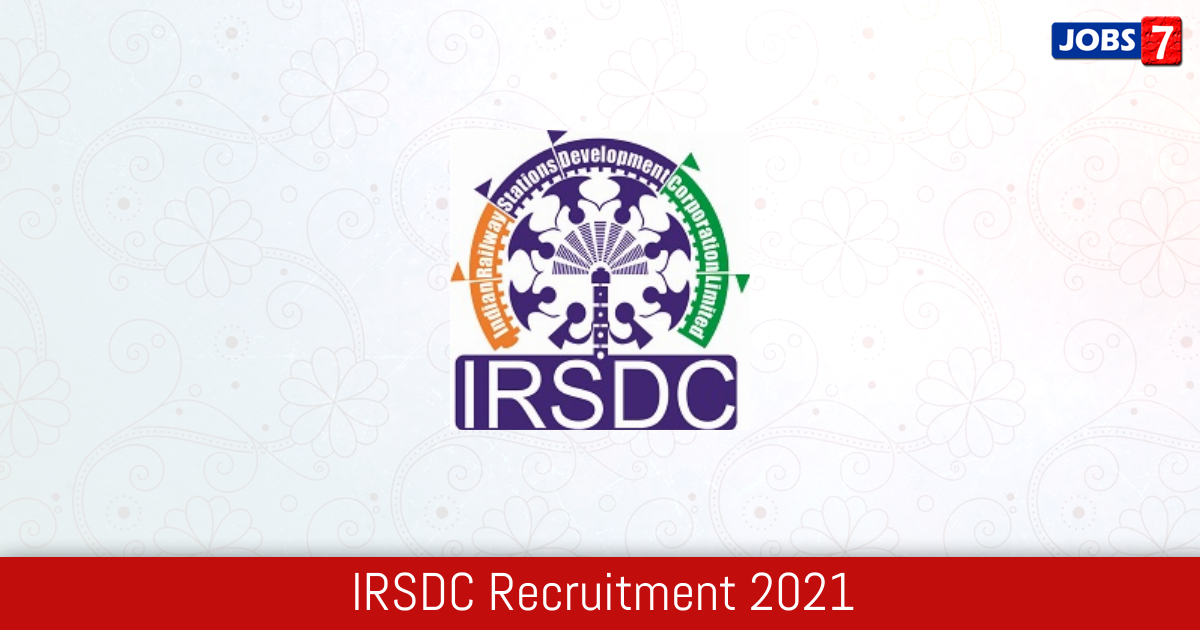 IRSDC Recruitment 2021:  Jobs in IRSDC | Apply @ irsdc.in