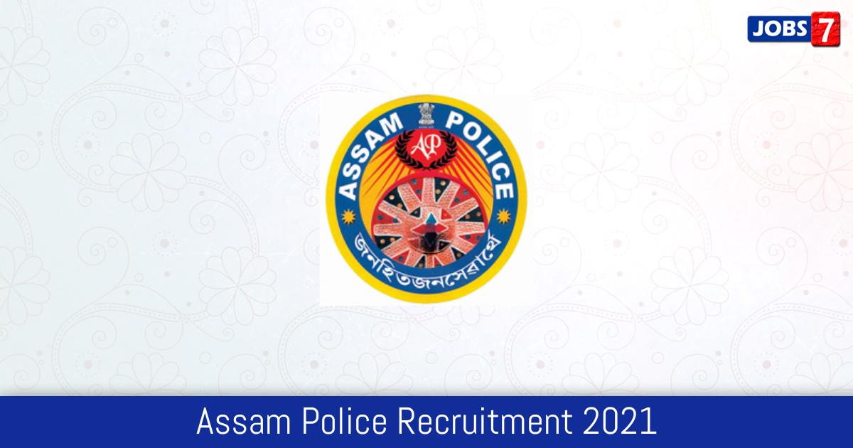 Assam Police Recruitment 2021:  Jobs in Assam Police | Apply @ police.assam.gov.in