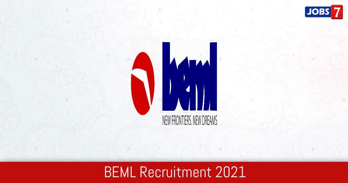 BEML Recruitment 2021:  Jobs in BEML | Apply @ www.bemlindia.in