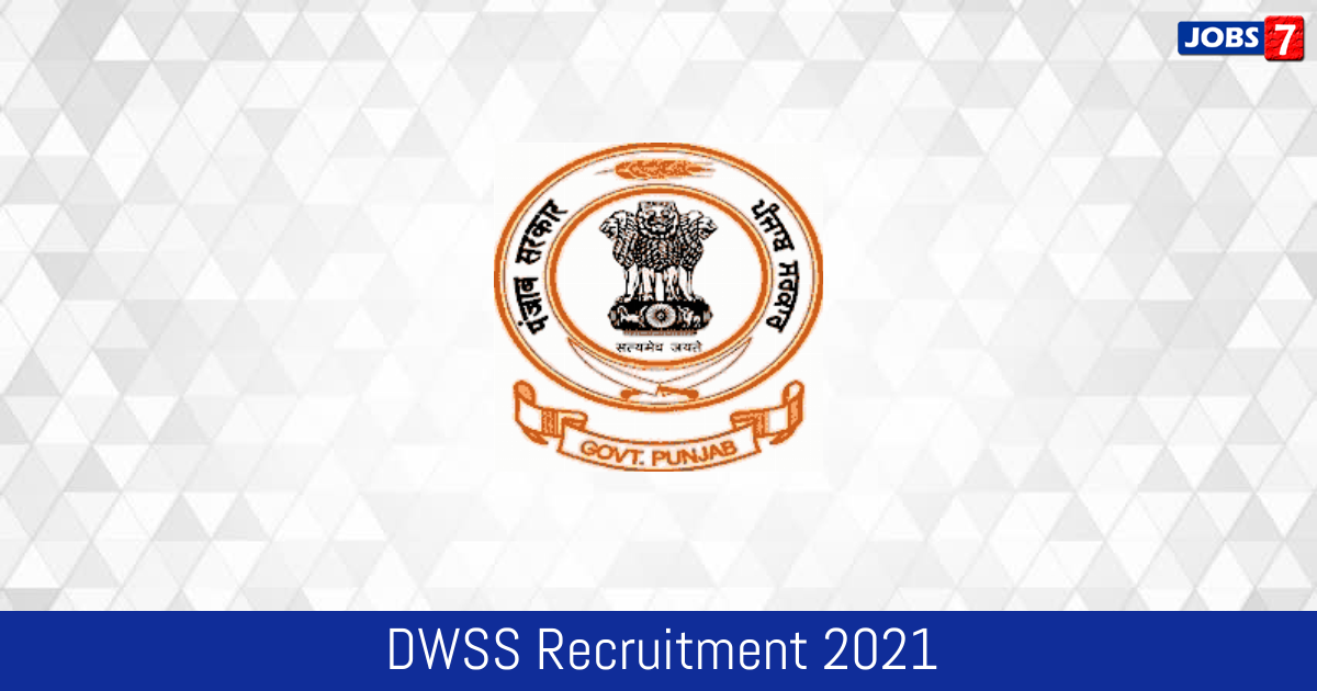 DWSS Recruitment 2021:  Jobs in DWSS | Apply @ punjab.gov.in
