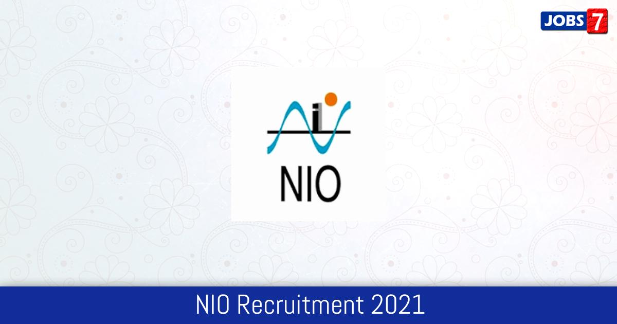 NIO Recruitment 2021:  Jobs in NIO | Apply @ www.nio.org