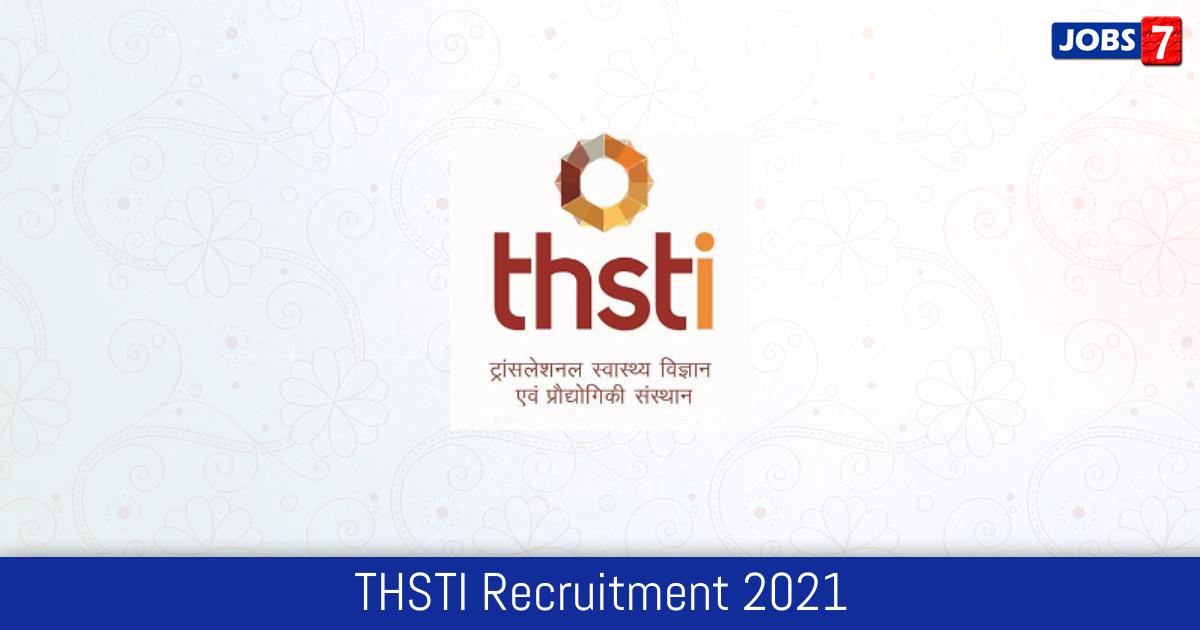THSTI Recruitment 2021: 7 Jobs in THSTI | Apply @ thsti.in
