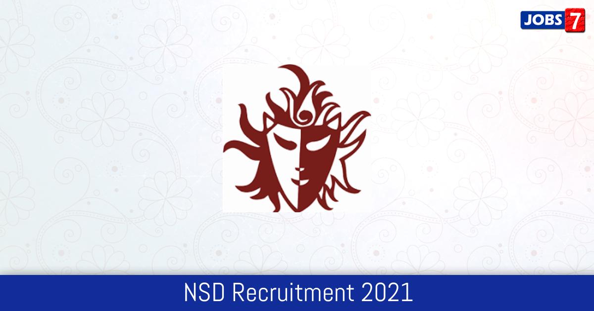 NSD Recruitment 2021:  Jobs in NSD | Apply @ nsd.gov.in