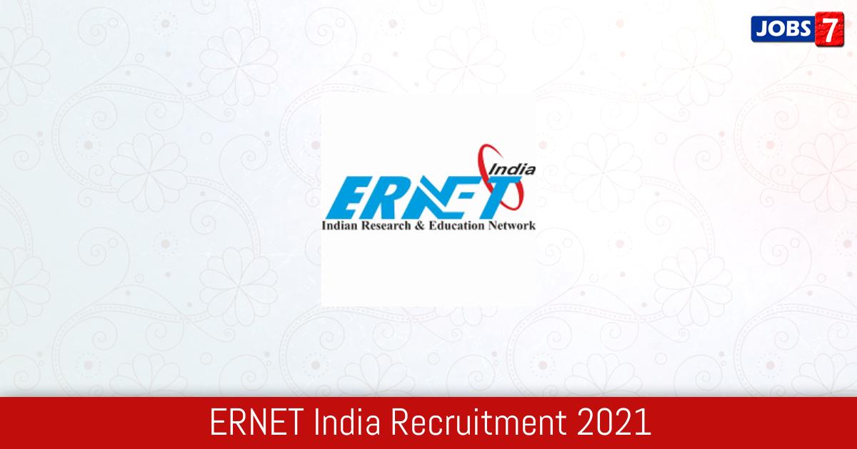 ERNET India Recruitment 2021: 5 Jobs in ERNET India | Apply @ ernet.in