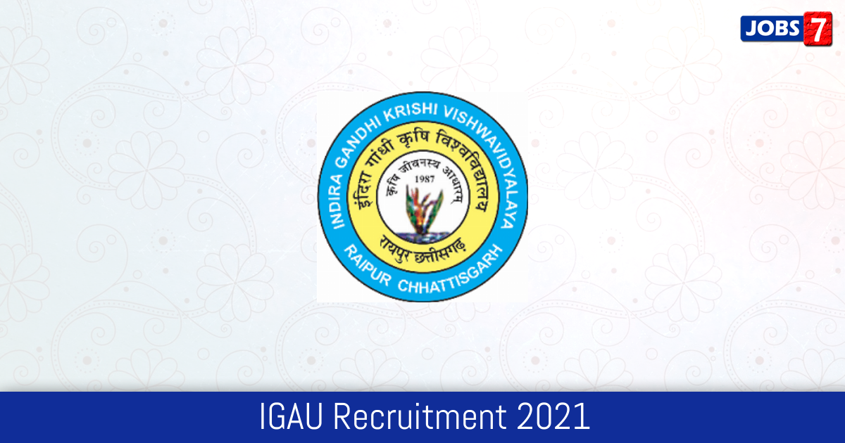 IGAU Recruitment 2021:  Jobs in IGAU | Apply @ targetstudy.com