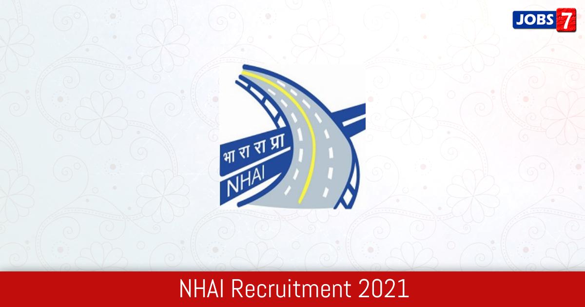 NHAI Recruitment 2021: 1 Jobs in NHAI | Apply @ nhai.gov.in