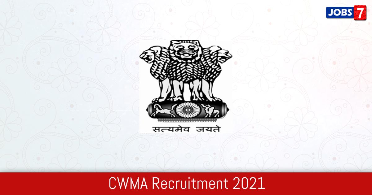 CWMA Recruitment 2021:  Jobs in CWMA | Apply @ jalshakti-dowr.gov.in