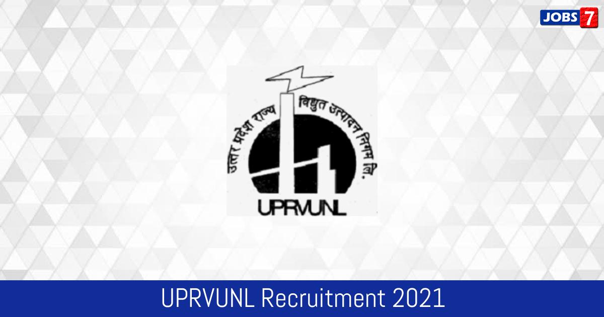 UPRVUNL Recruitment 2021: 196 Jobs in UPRVUNL | Apply @ uprvunl.org