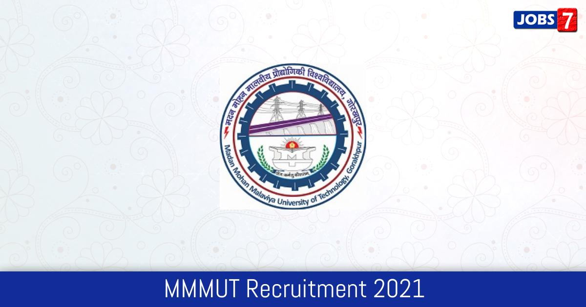 MMMUT Recruitment 2021:  Jobs in MMMUT   Apply @ www.mmmut.ac.in