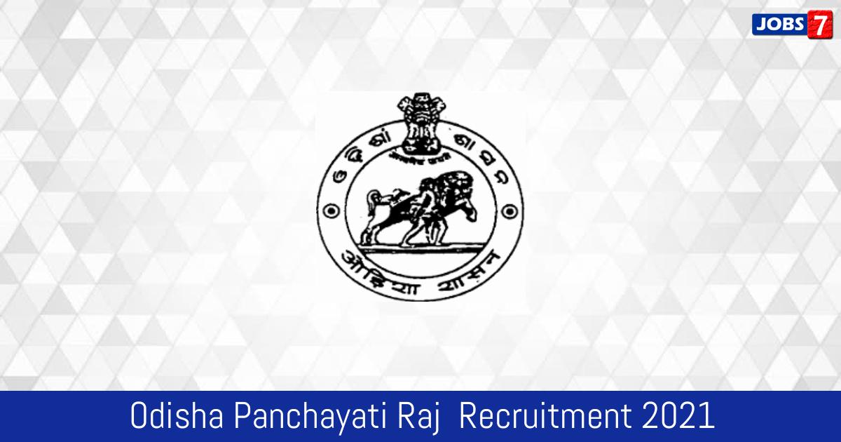 Odisha Panchayati Raj Recruitment 2021:  Jobs in Odisha Panchayati Raj | Apply @ odishapanchayat.gov.in