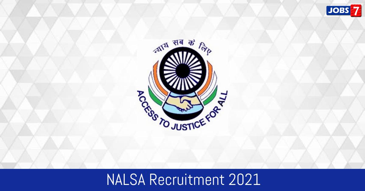 NALSA Recruitment 2021:  Jobs in NALSA | Apply @ nalsa.gov.in