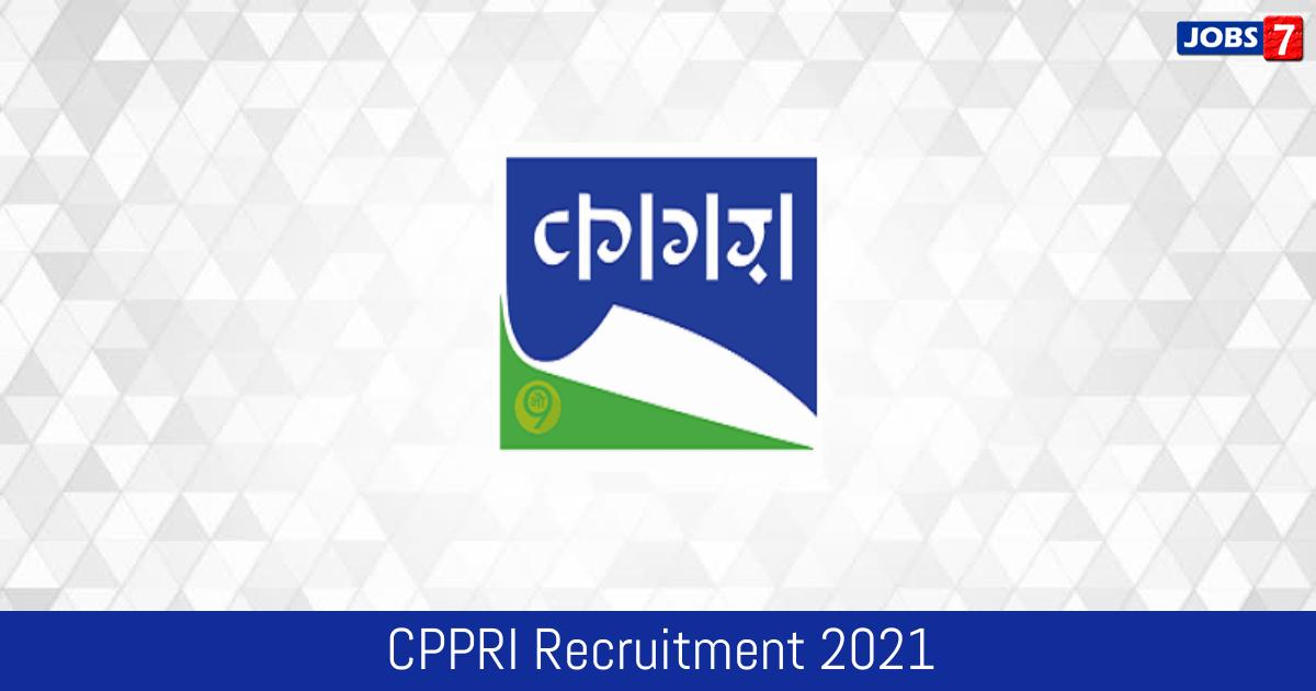 CPPRI Recruitment 2021:  Jobs in CPPRI | Apply @ cppri.res.in