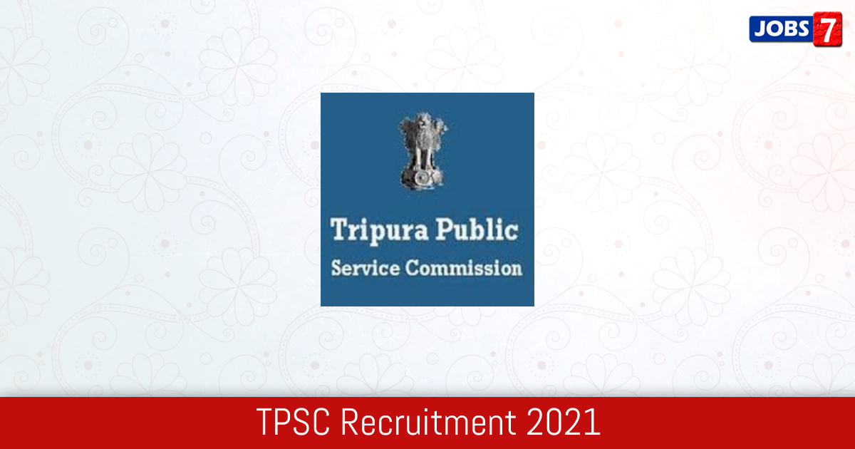 TPSC Recruitment 2021:  Jobs in TPSC | Apply @ tpsc.nic.in