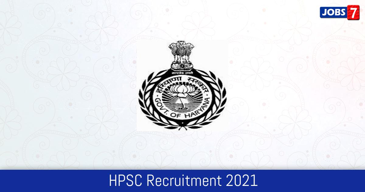 HPSC Recruitment 2021: 526 Jobs in HPSC | Apply @ hpsc.gov.in