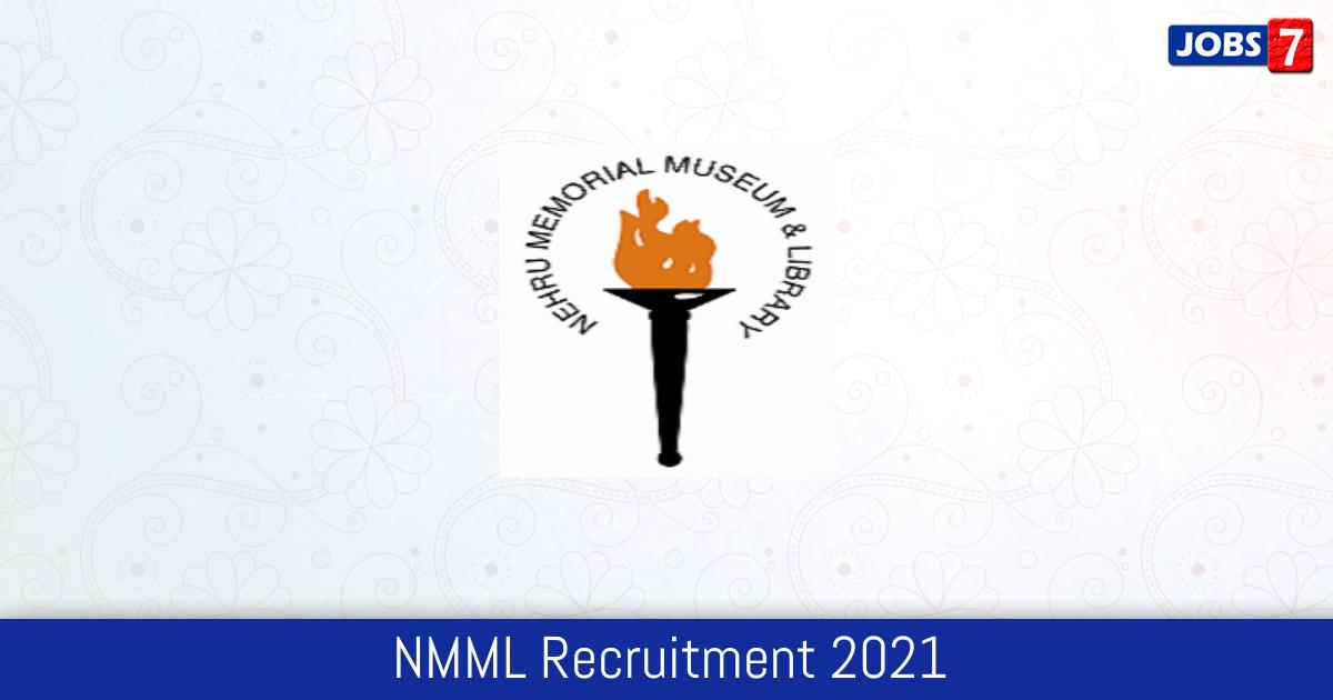 NMML Recruitment 2021:  Jobs in NMML | Apply @ nehrumemorial.nic.in