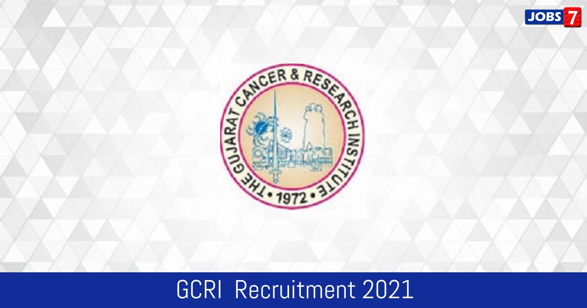 GCRI  Recruitment 2021:  Jobs in GCRI  | Apply @ www.gcriindia.org