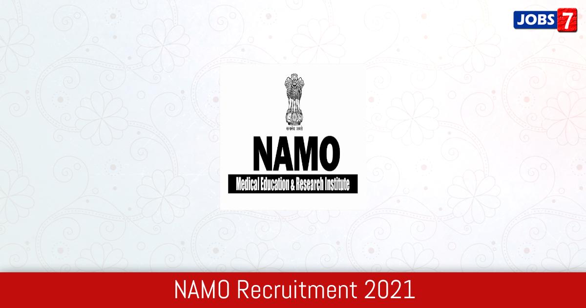 NAMO Recruitment 2021:  Jobs in NAMO   Apply @ namomeriadmissions.in