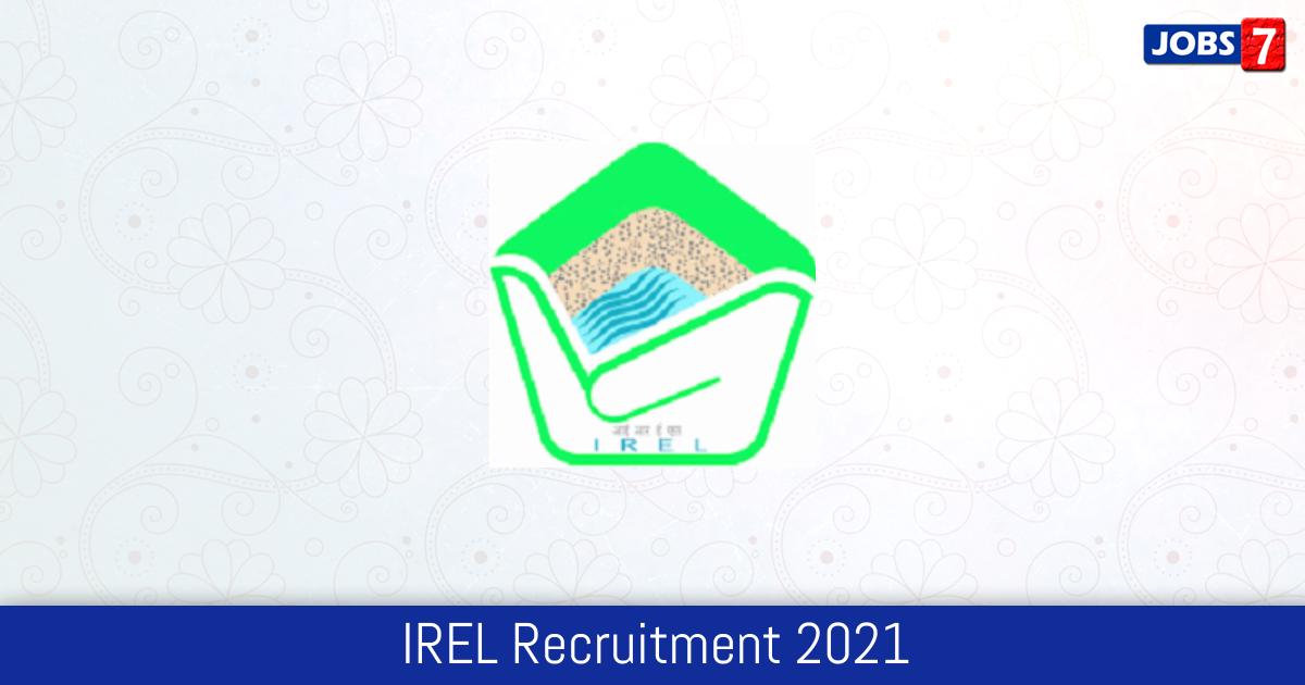 IREL Recruitment 2021: 42 Jobs in IREL | Apply @ www.irel.co.in
