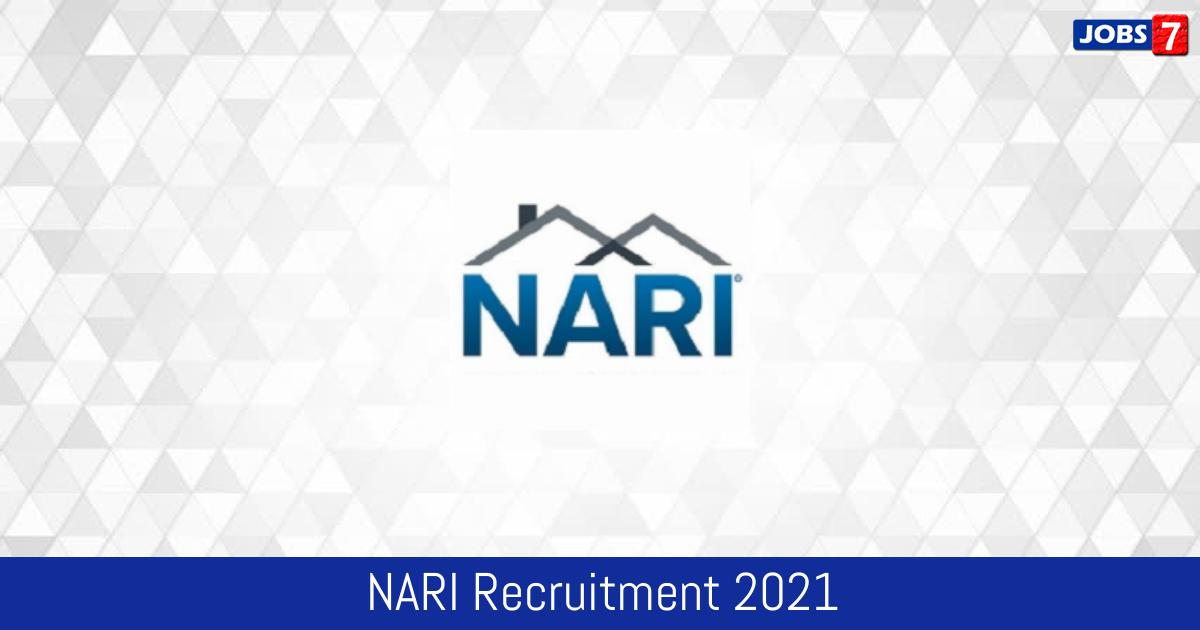 NARI Recruitment 2021:  Jobs in NARI | Apply @ www.nari-icmr.res.in