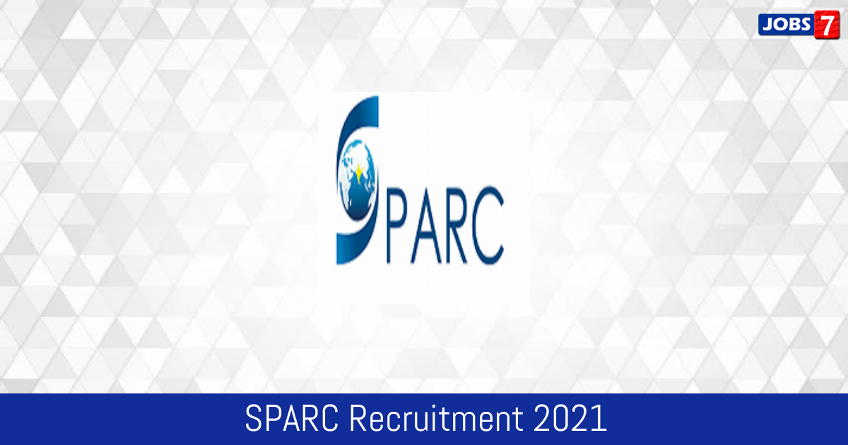 SPARC Recruitment 2021:  Jobs in SPARC | Apply @ sparc.iitkgp.ac.in