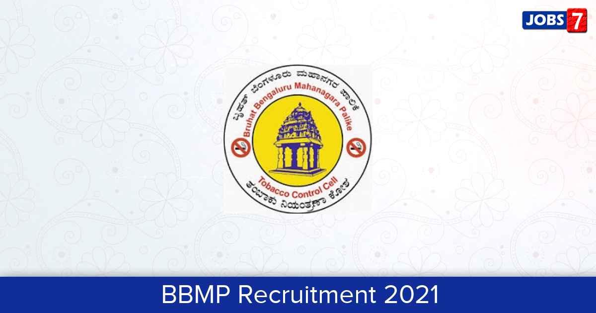 BBMP Recruitment 2021:  Jobs in BBMP | Apply @ bbmp.gov.in
