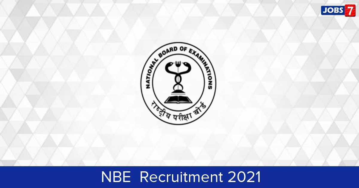 NBE  Recruitment 2021: 42 Jobs in NBE  | Apply @ www.natboard.edu.in