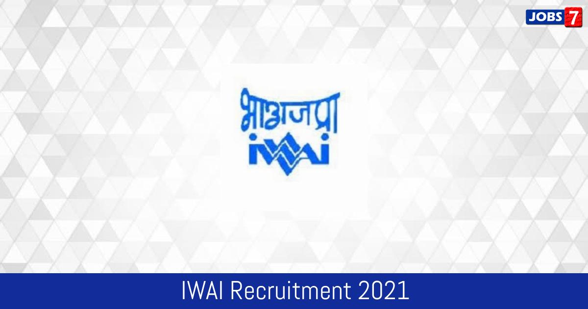 IWAI Recruitment 2021:  Jobs in IWAI | Apply @ www.iwai.nic.in