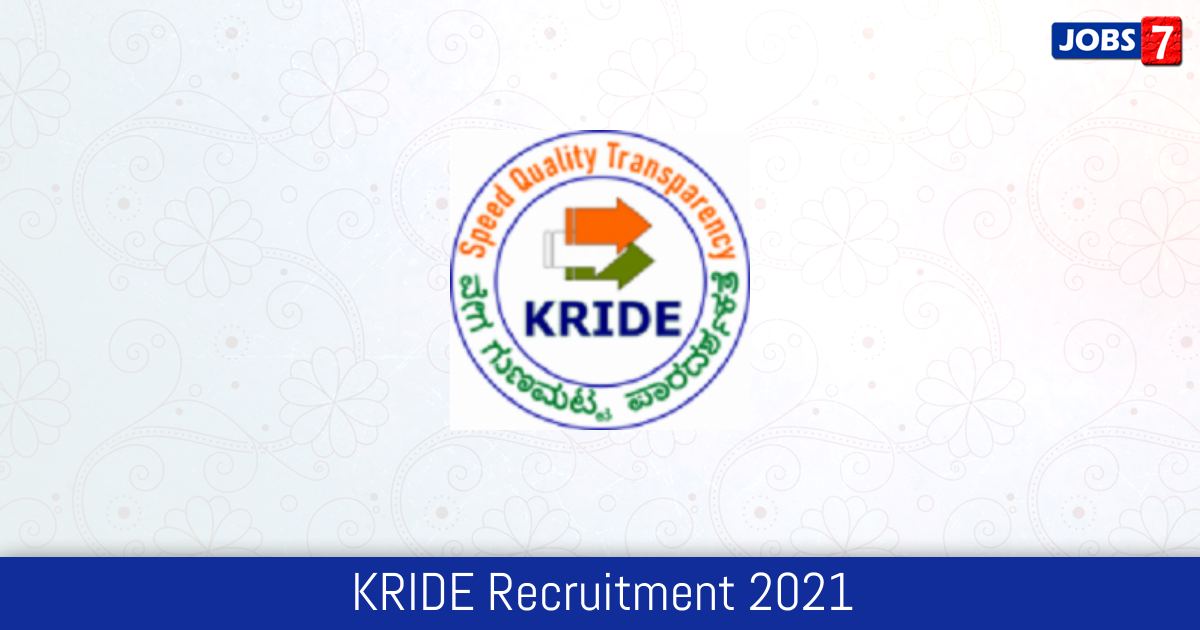 KRIDE Recruitment 2021:  Jobs in KRIDE | Apply @ kride.in