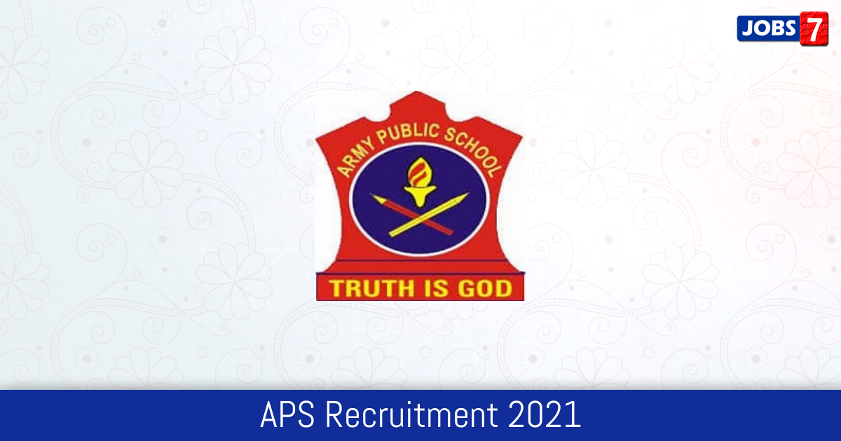 APS Recruitment 2021:  Jobs in APS | Apply @ www.awesindia.com