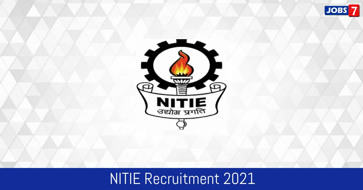 NITIE Recruitment 2021:  Jobs in NITIE   Apply @ www.nitie.edu
