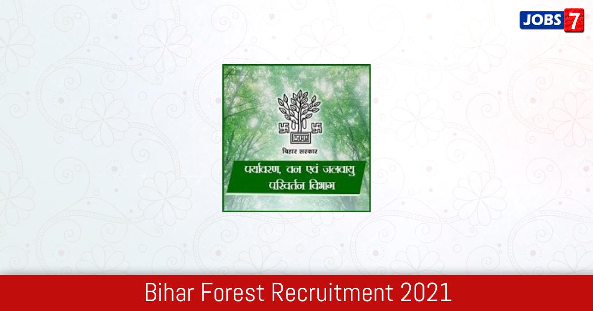 Bihar Forest Recruitment 2021:  Jobs in Bihar Forest | Apply @ forest.bih.nic.in