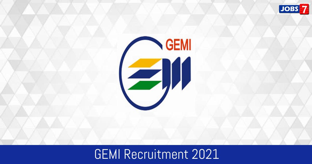 GEMI Recruitment 2021:  Jobs in GEMI | Apply @ gemi.org