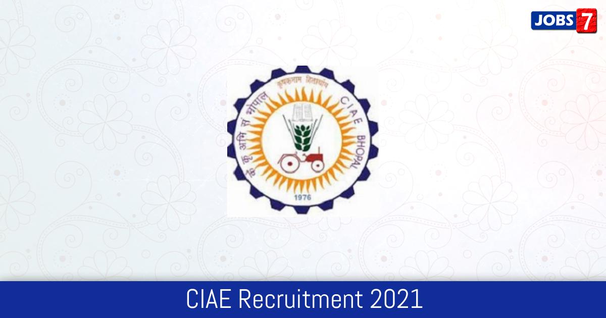 CIAE Recruitment 2021:  Jobs in CIAE | Apply @ www.ciae.nic.in