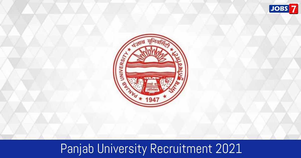 Panjab University Recruitment 2021:  Jobs in Panjab University   Apply @ puchd.ac.in