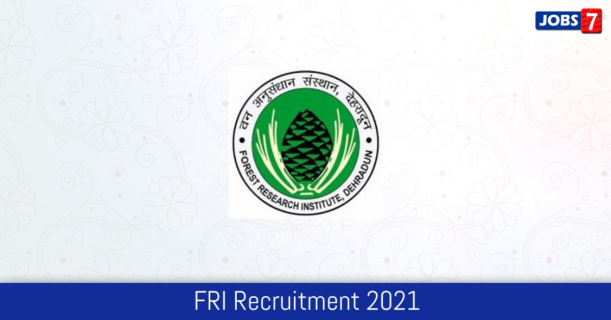 FRI Recruitment 2021: 18 Jobs in FRI | Apply @ fridu.edu.in