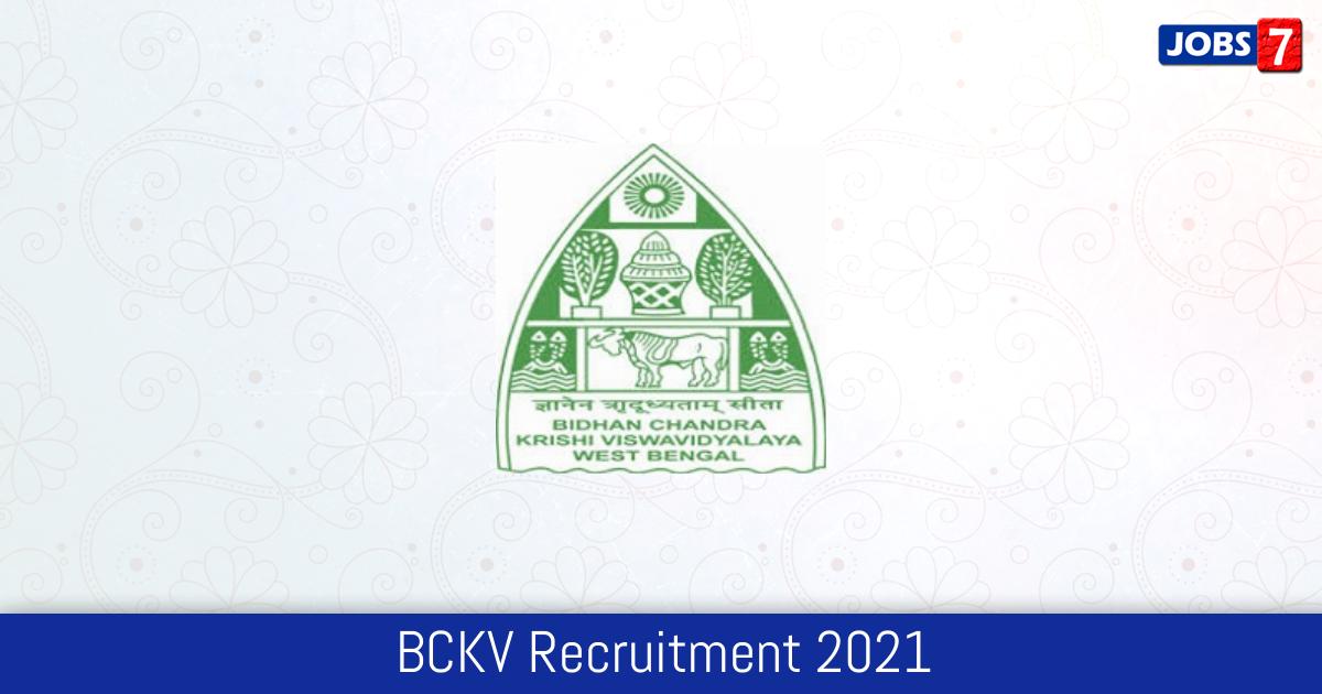 BCKV Recruitment 2021:  Jobs in BCKV | Apply @ www.bckv.edu.in