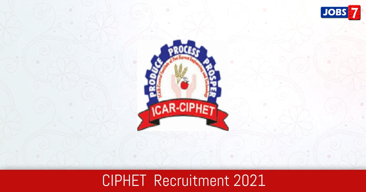 CIPHET  Recruitment 2021:  Jobs in CIPHET  | Apply @ www.ciphet.in