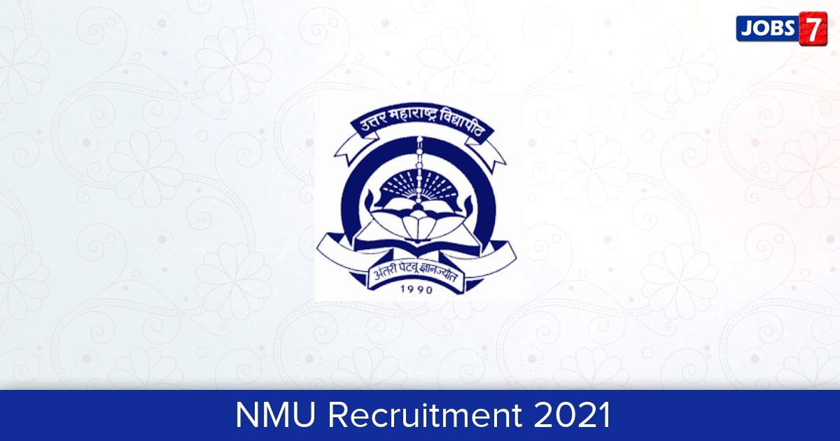 NMU Recruitment 2021:  Jobs in NMU | Apply @ www.nmu.ac.in