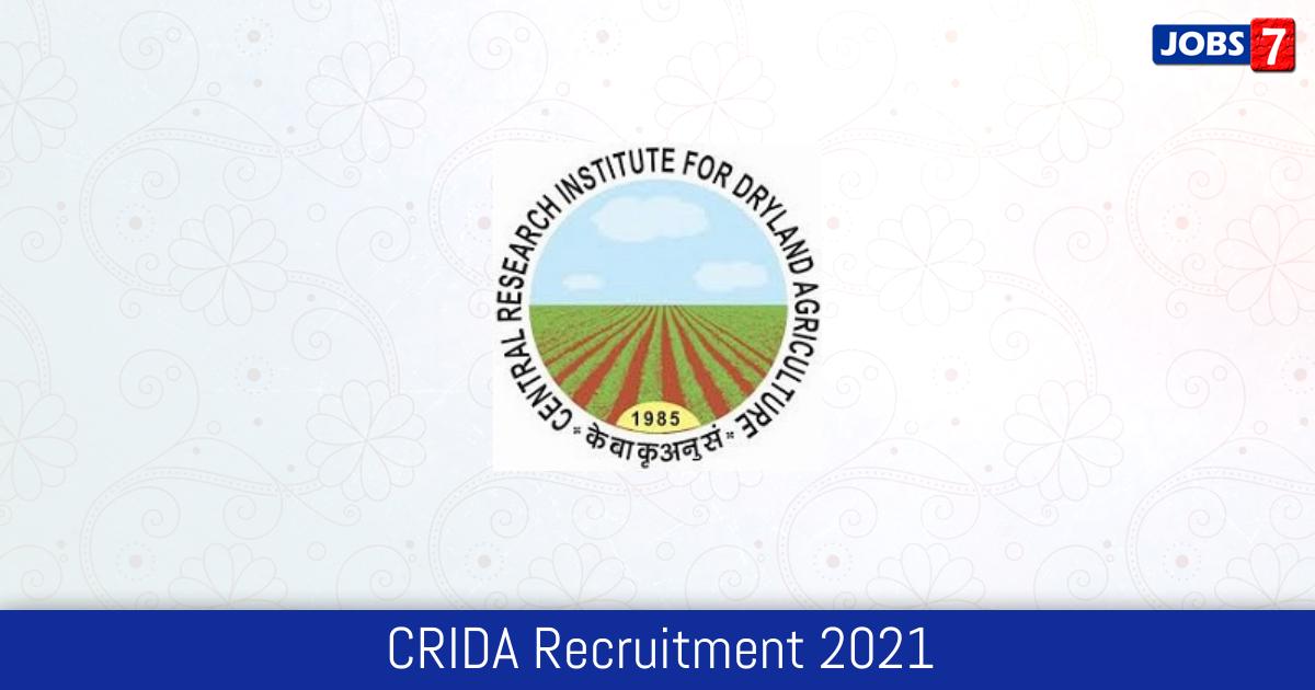 CRIDA Recruitment 2021:  Jobs in CRIDA | Apply @ www.crida.in