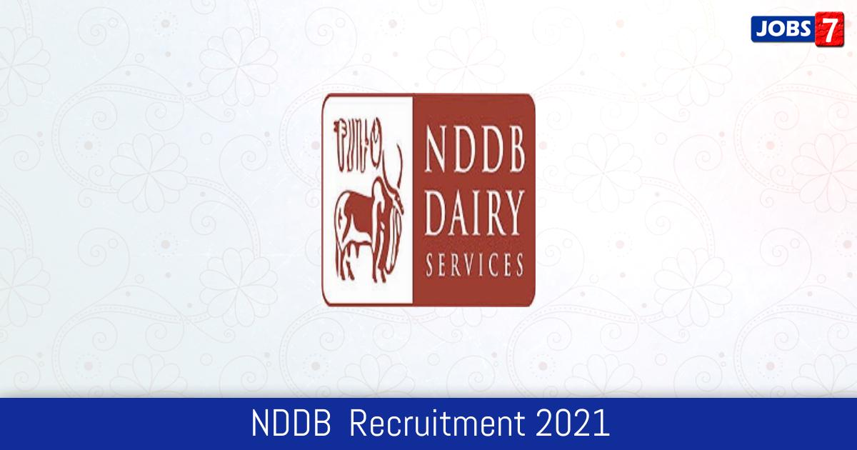 NDDB  Recruitment 2021:  Jobs in NDDB  | Apply @ www.nddb.coop