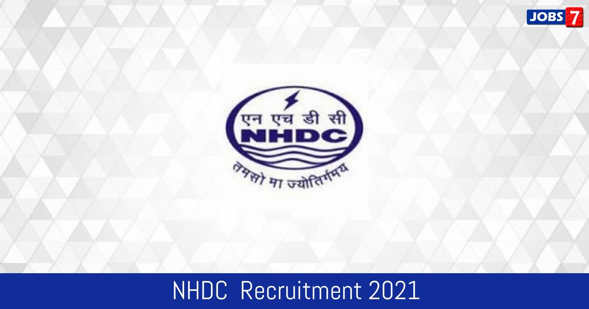 NHDC  Recruitment 2021:  Jobs in NHDC  | Apply @ www.nhdcindia.com
