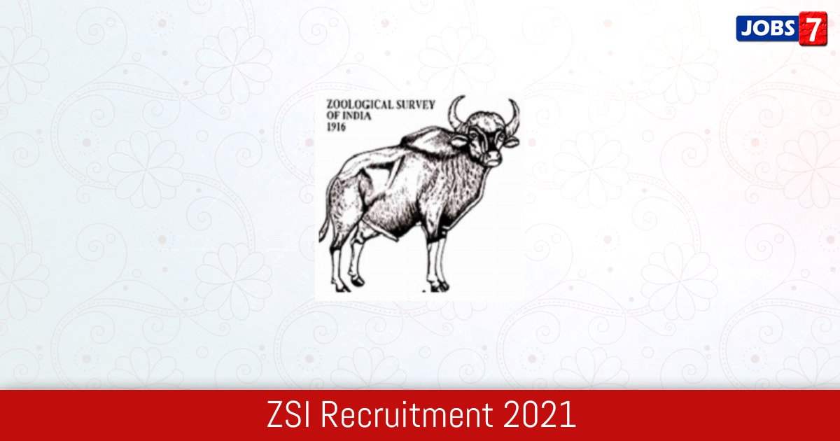 ZSI Recruitment 2021:  Jobs in ZSI | Apply @ zsi.gov.in