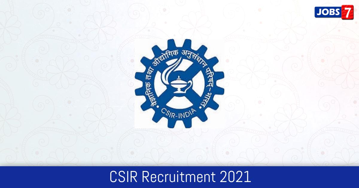 CSIR Recruitment 2021:  Jobs in CSIR | Apply @ www.clri.org